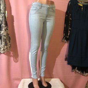 NWOT J BRAND Stepped Back Leather Skinny Jeans
